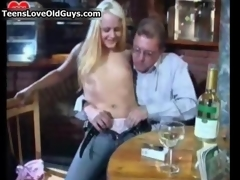 Nasty blonde slattern gets gung-ho sucking film 3