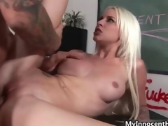 Prex blonde fucks piping hot teacher film