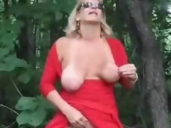 Horny mature bitch ID card in wood