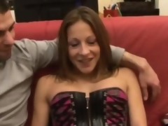 Kate french brunette fucked greater than a couch