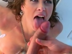 Breasty murkiness milf Ashlee Raine gets all her holes fucked on high a rowing-boat