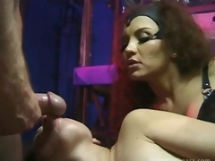 Breasty Latina Dominatrix Fucks Say no to Sex Slaves Until Getting Facialized