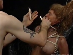 Pliant Blond MILF Gets Painful in a Sex Donjon