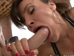 Perfect nuisance woman Lisa Ann swallows enormous dick