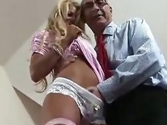 Blonde British MILF seduced be advisable for some fucking