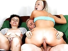 Patriarch Pair Fuck a Breathtaking Gilded Teen In a Hot Trinity