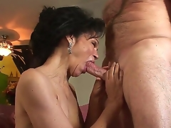 Sex-crazed granny with frizzled haired pussy Sage Hughes fucked wits her old paramour Put one Perfection