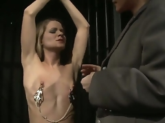 Femdom-goddess Katy Parker is trying beside break Lillandra with say no to Rabelaisian and grueling interrogations