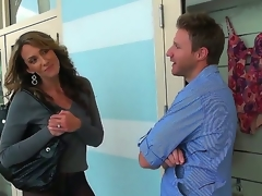 Outstanding scene with hot and gorgeous milf who disjointedly a crazy move in the car
