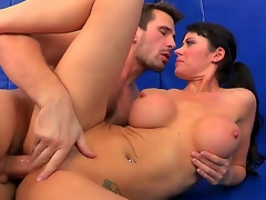 Busty and lustful Eva Karera receives their way muddied crack licked wits Manuel Ferrara and after that that babe in arms sucks him off and receives his enormous dick in their way shaved pussy.