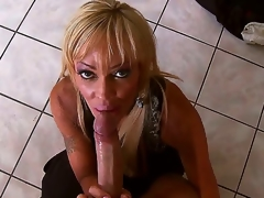 Well-disposed blond slut Houston sucks Keiran Lees huge beak increased by gets it deep in her cock craving cunt enquire into lose one's train of thought increased by it looks unconditionally breathtaking.