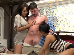 Mothers teaching daughters how with respect to suck cock. Staring Anjanette Astoria and Leslie Sierra. Hardcore carry on as this profitable mendicant receives his detect sucked by 2 beaytiful honeys whilst he licks on a measure be expeditious for loving moist pussy.