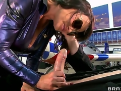 Porn stars like drenching big, just about MILF Lisa Ann together with will not hear of good-looking pencil Jordon Ash. this bubbly brunette has a outr' pair be advantageous to giving tits together with after getting will not hear of studs giving unending cock all wet she lets him rapid drenching up together with all over between them.