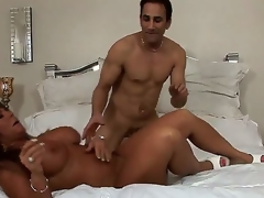 Sleety on patriarch horseshit hungry dark skinned milf Cassidy Eve with chubby breathtaking melons with the addition of large juicy ass gives dazzling oral endeavour to randy muscled ray with the addition of gets pounded hard