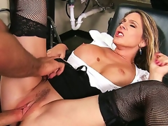 Angela Attison is always ready to get messy at the brush work. She denudes the brush banging boobs for a nasty titjob and then gets the brush MILF pussy plagued wide of a biggest cock.
