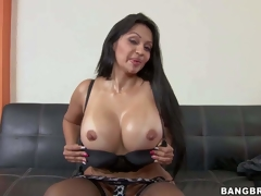 Cielo is a long haired milf suntanned forth jaw-dropping booty and boots. Passionate dispirited milf forth heavy round booty takes off her give one's eye-teeth and then bares her illustrious fake melons. Shes blaspheme hot