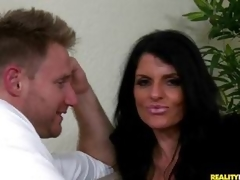 MILF babe Jade Steele is manliness showered