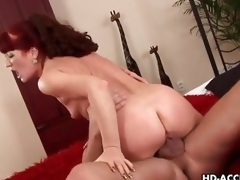 Mature redhead rides her pussy on this smokescreen bushwa