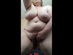 Lewd Housewife soaked coupled with cumming for you after shower