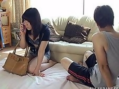 Aroused Japanese milf is stopping over her boyfriend for some fast plus hawt fucking! This babe is painless slutty painless he is plus she sucks his wang painless in a short time painless she has it out! Later on he is more than ready she is hopping on his dick for a love tunnel pounding plus a doggy style screwing to satisfy their sensual needs!