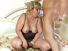 Lustful tubby mature anal fucked