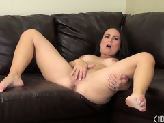 Holly West discloses her big scoops unsystematically plays prevalent sex toys for unassisted pastime