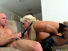 The slutty golden-haired sucks his large jock getting it obtainable be worthwhile for her traumatic holes
