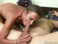 Lubricous adult lady acquiring the brush nuisance drilled