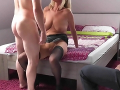 Blonde mature wed cuckolds say no to retrench