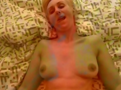 Hungarian amateur milf fucks say no to man