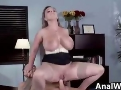 Nasty MILF Beside Big Chest Mode Anal To Frowardness