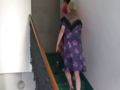 Naughty granny takes recent cock
