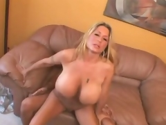 Curvy huge chest milf drilled in her cunt