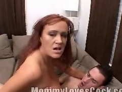 Busty milf enjoys riding on a ...
