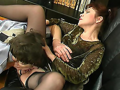 Senior aged chick getting her mellow snatch trained plus drilled hard