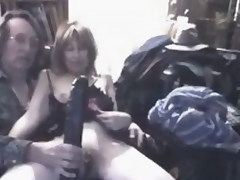 What do you think this insane mature wench feels, in a beeline titanic darkling sex toy penetrates their way fruitful fishy cunt?