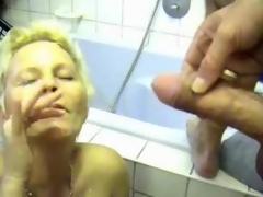 Milf receives him off regarding her bathroom