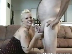 Hot MILF sucks a load of shit