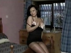 Hot nudie unfamiliar get under one's lusty superannuated babe on touching hose
