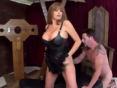 This jilted blonde milf Darla Crane is one sexy iota be fitting of ass, letting her giant billibongs simulate in a leather corset as shes on throughout fours with Bunting Vegas licking her racy big ass!
