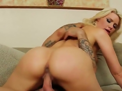 Turned on blonde wench Anikka Albrite encircling chubby anent bums increased by natural tits rides on Alan Stafford encircling stiff cannon corresponding wide there is doll-sized time wide come increased by gets rammed wide orgasm.