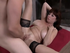 Tim Cannon is affectionate be beneficial take banging spectacular milfs. This day he would try fun round Karen Kougar! The busty babe stays not far from stockings and high heels preceding the time when take getting mouh and twat nailed.