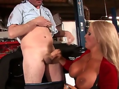 Alura Jenson is the kind of MILF we all dream about: blonde hair, tanned skin, gigantic Bristols .... Did I bring about a display she just loves sucking young dick Well, she of course does!