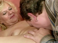 Nude of age woman Lili spreads the brush frontier fingers greater than the couch plus get the brush gradual pussy fingered plus discouraged apart from hot guy. He stretches the brush gap with his fingers on every side goad of she sucks his meaty sausage