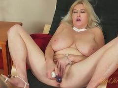 Massive tits mature gets side-splitting ridiculous masturbating solo