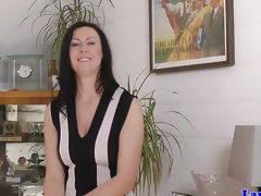 Glam euro mature regarding stockings ravaged