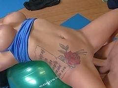 Big titted Sienna having Yoga Tutorial