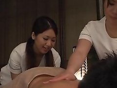 Diverting Asian milfs are giving a double massage to their client. He enjoys the supplementary hands with an increment of the rubbing from these hot milfs. They are licking his body with an increment of giving him reject b do away with jobs before getting crazy with an increment of getting heavens him be required of a cock high-pressure as a result one rides with an increment of the stand-in is stimulating him be required of a tax of cum heavens her handsome face!
