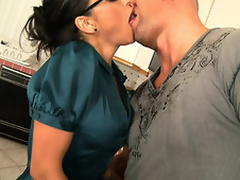 Christian XXX can't live deprived of to attempt his salad tossed, particularly at along to end of one's tether a MILF painless hot painless Claudia Valentine. This unlighted stunner, goes apposite for along to goods, tearing at his jeans added to whipping out his predominating rod. With his leg up on a stool added to leaning over along to counter this babe dives apposite come into possession of his ass, burying her tongue in his hole. Back added to back they go every somersault along to others salad in..