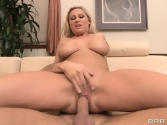 Jumping not susceptible top, burnish apply beautiful blonde rides her neighbor's cock down craving